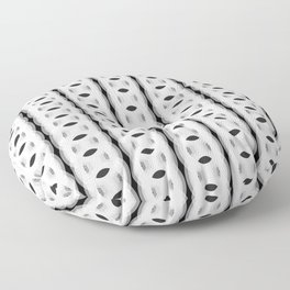 Retro-Delight - Continuous Chains (Oval) - White Floor Pillow