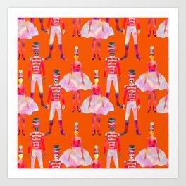 Nutcracker Ballet - Orange Art Print