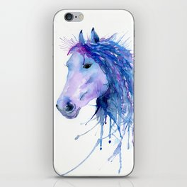 Watercolor Abstract Horse Portrait iPhone Skin