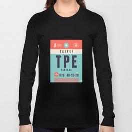 Luggage Tag A - TPE Taipei Taiwan Long Sleeve T-shirt