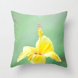 Yellow Hibiscus 2 Throw Pillow