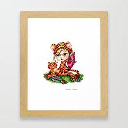 Mandi and Sheeba by  Heather Valentin Lacy Sunshine  Framed Art Print