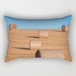 Hay Bale Field BiG Rectangular Pillow