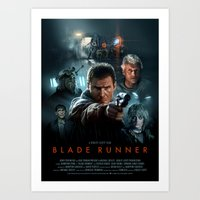 blade runner Art Prints featuring Blade Runner by Brian Taylor