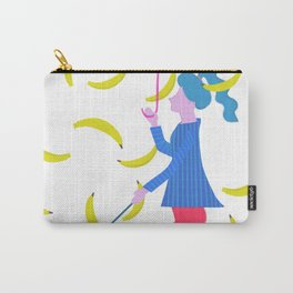 Raining Bananas Carry-All Pouch