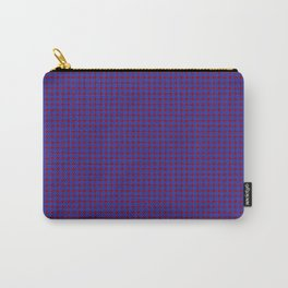 Burgundy and Navy Blue Polka Dot Pattern Carry-All Pouch