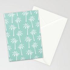 Palm trees tropical minimal ocean seaside socal beach life pattern print Stationery Cards