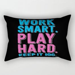 Play Hard Rectangular Pillow