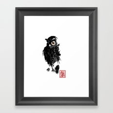 Hibou / Owl Framed Art Print