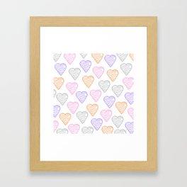 Hearts of love Framed Art Print