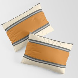Minimal Abstract Vintage Cream Orange Grey 02 Pillow Sham