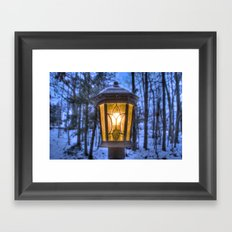 Frozen Lantern Framed Art Print