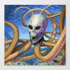 Skulloctopus Canvas Print