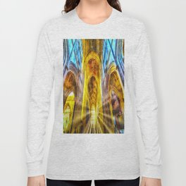 Bath Abbey Sun Rays Art Long Sleeve T-shirt