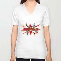 union jack V-neck T-shirts featuring Union Jack by mailboxdisco