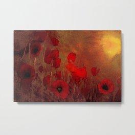 FLOWERS - Poppy heaven Metal Print
