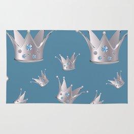 Silver crown Rug