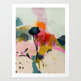 paysage abstract Art Print