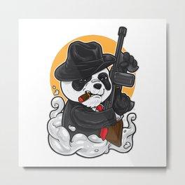Gangsta Panda Metal Print