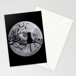 The Cat And The Moon Stationery Cards