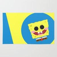 spongebob Area & Throw Rugs featuring Spongebob Squarepants by Eyetoheart