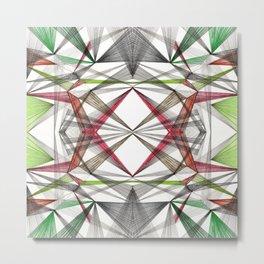 Geo Lines Metal Print