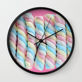 Rainbow Marshmallow Candy Wall Clock