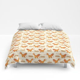 Red Fox & Hearts Pattern Comforters