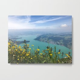 The View from Mount Rigi Metal Print