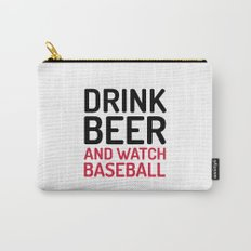 Drink Beer Watch Baseball Sports Quote Carry-All Pouch