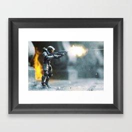 Fire Fight Framed Art Print