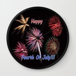 Happy fourth of july Wall Clock
