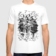 The Myth of Totummy White Mens Fitted Tee MEDIUM