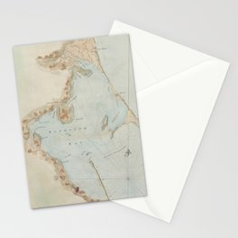 Vintage Map of Plymouth Bay (1779) Stationery Cards