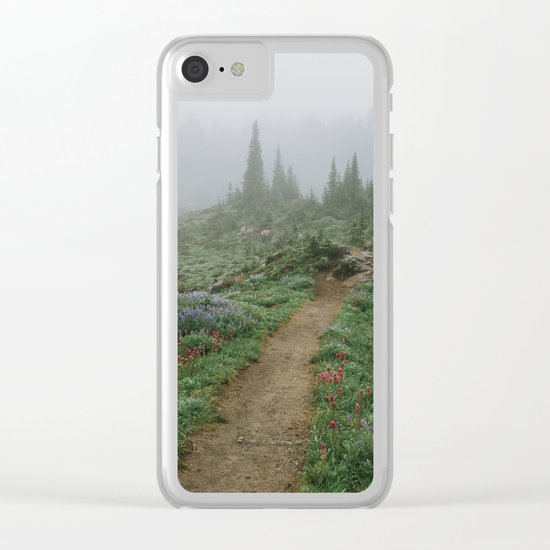 Washington Wildflower Fog Clear iPhone Case