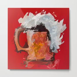Abstract Beer #society6 #decor #buyart by Lena Owens @OLena Art Metal Print