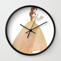 belle Wall Clocks featuring Belle by lolia