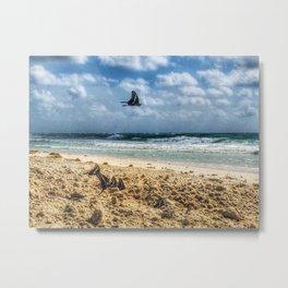 Beach Butterflies Metal Print