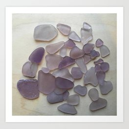 Genuine Purple Sea Glass Collection Art Print