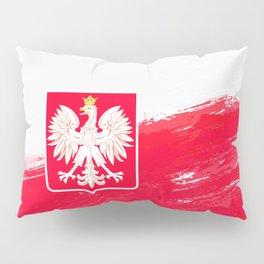 Poland's Flag Design Pillow Sham