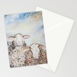 Couple of Sheep Stationery Cards