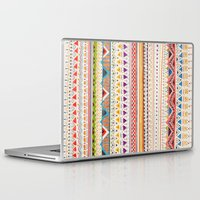 yellow pattern Laptop & iPad Skins featuring Pattern by Sandra Dieckmann