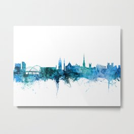 Newcastle England Skyline Metal Print