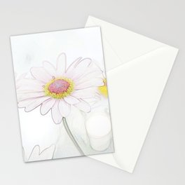 Colour penciled daisies Stationery Cards