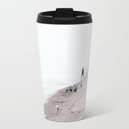 Surfing Where the Ocean Meets the Sky Travel Mug