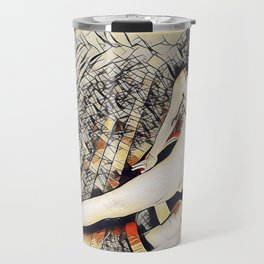 6078s-KD Mirror Reflections Erotic Art in the style of Wassily Kandinsky Travel Mug