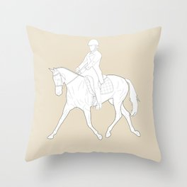 Dressage in Brown Throw Pillow