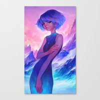 loish Canvas Prints featuring frost by loish