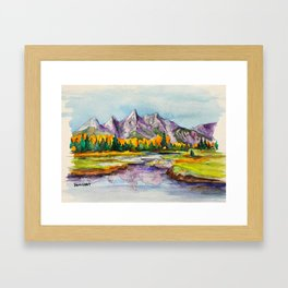 Grand Teton National Park Framed Art Print