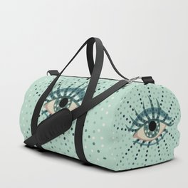 Abstract Eye With Dots Duffle Bag